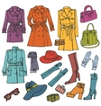 Fashion clothes setwoman wear vector
