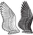 Dove wings vector