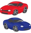 Two cartoon cars vector