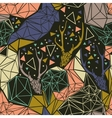 Deer skeleton with geometric polygonal ornament vector