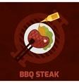 Bbq steak poster vector