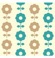 Retro flowers seamless background - blue and brown vector