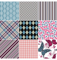 Set seamless vintage colorful patterns vector