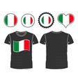 T-shirt with the flag of italy vector
