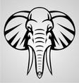 Elephant tribal vector