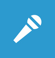 Microphone icon white on the blue background vector