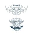 Set of biker badges vector