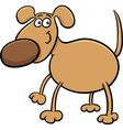 Cute dog character cartoon vector