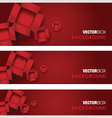 Cardboard boxes red vector