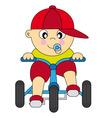 Boy bike vector