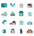 Real estate icon flat vector