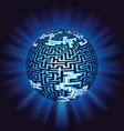 Globe labyrinth - maze with illumination vector