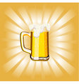 Glass goblet with beer and foam vector