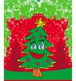 Funny christmas tree card vector