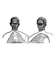 Siamese twins vintage engraving vector
