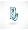 Socket grunge icon vector