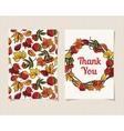 Decorative card thank you vector