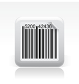Barcode single icon vector