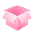 Pink open box icon template isolated on white vector