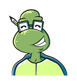 Nerdy turtle vector