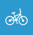 Bike icon white on the blue background vector