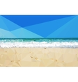 Low poly day beach background vector