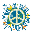 Hippie peace symbol vector
