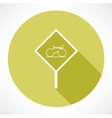 Sign with a bicycle icon vector