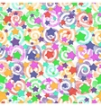 Seamless pattern colored stars vector