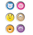 Buttons animals vector