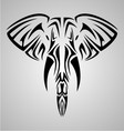 Tribal elephant head vector