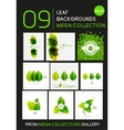 Mega collection of green leaf compositions vector