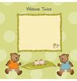 Baby announcement card vector
