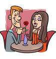 Couple in love cartoon vector