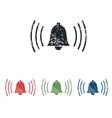 Alarm grunge icon set vector