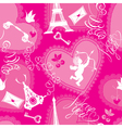Love concept - seamless pattern with lace hearts vector