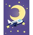 Moon at night vector