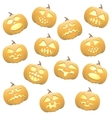 Seamless pumpkins background vector