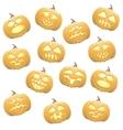Seamless pumpkins background vector