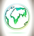 Globe green abstract icon vector