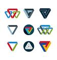 Abstract unusual icons set creative symbols vector