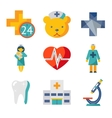 Medical care and health isolated modern trendy vector