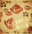Coffee break retro vector