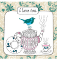 Love tea pattern vector