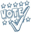 Doodle vote check stars vector