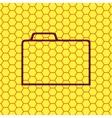 Document folder icon symbol flat modern web design vector