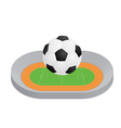 Ball above stadium vector