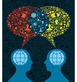 Social media brain communication vector