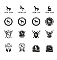 Set of horse or equestrian labels and signs vector