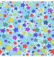 Seamless pattern stars and snowflakes vector